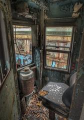 Old trolley car (pgnynt) Tags: trolley trolleycar hdr rust urbex decay leaves windber pa abandoned graveyard trolleygraveyard grunge photomatix nikon d750 peelingpaint conductor