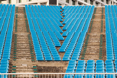 Seats (D Song) Tags: travel singapore asia seats chairs blue stadium plastic concrete sit outdoors hot summer southeast architecture urban