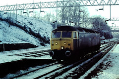 47-535 Coventry station 18-02-1985 (cvtperson) Tags: class 47 47535 coventry