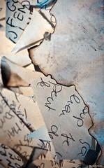 Je te dirais des maux 4 (Philippe Gillotte) Tags: paper souvenirs remember instant papier mots crire maux bruler ecrits ecritureecrireecritswritemotspenses