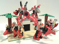 Crimson Raiders (soriansj) Tags: mecha mech moc microscale mechaton mfz mf0 mobileframezero