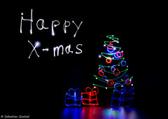 Happy X-mas (Lightpainting) (sXare) Tags: xmas lightpainting weihnachten 2014