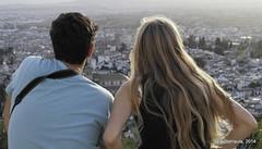 Al sol (Landahlauts) Tags: woman man andaluca mujer europa europe pareja pair stranger andalucia granada andalusia andalus