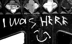 (Shan B.) Tags: bw white black manchester graffiti mono paint tag vandalism castlefield greyscale