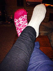 Putting my feet up 32/365 1st February 2015 (Maggie's Thistle) Tags: feet socks 365 putyourfeetup 365daysproject maggiesthistle alisonhaw
