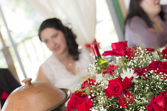 Wife and roses (Michael Pereira Pereira) Tags: wedding red flores flower blanco canon rojo boda t3 rosas matrimonio copa vino 50mm18 esposa brindis 1100d