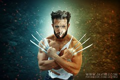 Wolverine - Cosplay Photomanipulation (JaviWJ) Tags: madrid espaa man men photomanipulation photoshop comic cosplay manipulacion fantasy xmen fantasia edition wolverine edicion lobezno strobist