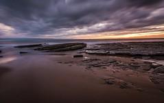 Nash Point sunset (technodean2000) Tags: uk sunset wales point coast sand nikon rocks south nash lightroom photoscape d5200