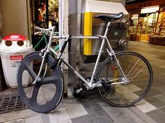 Panasonic Fixie. Kyoto 03-03-2015 (22) (kinkicycle.com) Tags: street bicycle japan japanese cycling cool kyoto track bikes panasonic bicycles fixed fixie fixedgear custom trackbike trackcycling
