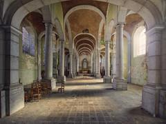 OMG (klickertrigger) Tags: abandoned church spirit decay ghost columns kirche holy verlassen säulen verfall