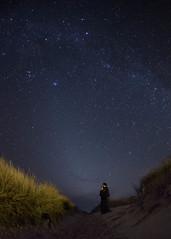 Young Observers (Davuuus) Tags: love beach oregon stars coast sand couple dune fisheye astrophotography valentinesday manzanita canon15mmfisheye