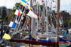 20150208-70-Wooden Boat Festival in Hobart (Roger T Wong) Tags: people festival docks boats waterfront australia flags wharf tasmania yachts salamanca hobart sullivanscove 2015 woodenboatfestival sonyalpha7 sonya7 rogertwong sonyfe2870mmf3556oss sonyilce7 sony2870
