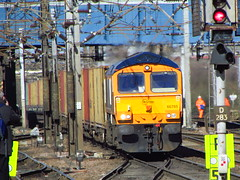 GBRF 66765 Intermodal , Going Through Doncaster Station (Gary Chatterton 3 million Views Thank You All) Tags: train flickr railway exploreinterestingness canonpowershot doncaster intermodal gbrf doncasterstation 66765