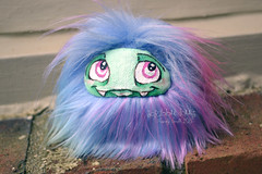 (Scribble Dolls) Tags: cute art monster fur toy happy miniature stuffed furry doll acrylic sweet handmade ooak critter small fluffy mini fluff softie fabric tiny stuffedanimal handpainted faux handsewn artdoll cloth creature sewn scribbledolls
