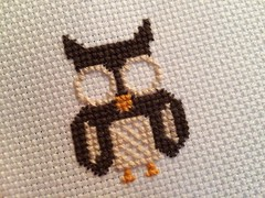 Almost owl (jenn2d2) Tags: crossstitch crafts