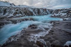 Bruarfoss Waterfall in winter, Iceland (diana_robinson) Tags: winter waterfall iceland brúarfoss fastmovingwater bridgewaterfall bruarfoss deepbluegap laugarvatnarea brúaráriver