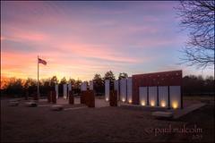 Sunset, Veterans Memorial (FiddleFlix) Tags: sunset usa memorial northcarolina hdr highdynamicrange garner veteransmemorial photomatix 7xp lakebensonpark