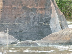 Rock painting on the Siparuni River