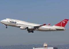 N667US_747-451_KLAX_2164 (Mike Head -Jetwashphotos) Tags: ca usa america nw socal boeing lax southerncalifornia 747 nwa northwestairlines 747400 westernus klax losangelesinternational 747451