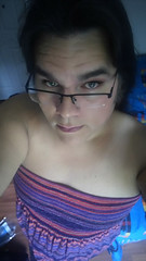 MAKEUP_20160712122413_save (youngcd_2000) Tags: beautiful glasses transgender nativeamerican hazeleyes shemale twospirit tubedress
