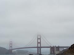 Golden Gate Bridge in fog (Yuxuan.fishy.Wang) Tags: sanfrancisco california bridge fog us unitedstates goldengatebridge goldengate