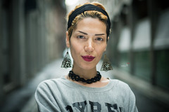 Stranger #105: Zina (w@@t) Tags: people portrait model milan 100strangers 50mm f14