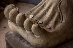 Nio Gardian's foot, Senyuji-temple, Imabari, Ehime, JAPAN (Hiro_A) Tags: statue japan temple coin nikon sigma carving carve shikoku 1770 ehime imabari nio 1770mm ohenro d7200