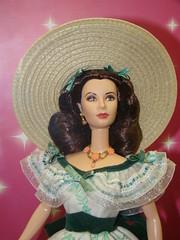 E o Vento Levou... (Sereiazinha Si) Tags: boneca doll brinquedo barbie exposio sopaulo brasil brazil scarlet ohara eoventolevou vivienleigh cinema