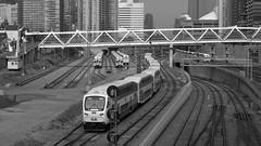 094crpshsatbwaconfwl (citatus) Tags: street bridge summer bw toronto canada train afternoon pentax go ii bathurst westbound k3 2016