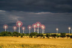 Candy Fans (dlorenz69) Tags: longexposure summer plant electric landscape fan energy power wind energie wheels windmills generator le electricity kraftwerk ventilator landschaft windrad strom turbine windrder windkraftanlage langzeitbelichtung windmilling
