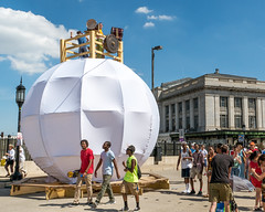 Music at Artscape 2016 (Dave Fine) Tags: festival art md musicians city baltimore circle shape unitedstates outside crowd band music sphere bmore artfestival usa maryland artscape outdoors us