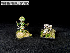 Lini & Droogami Iconic Druid (whitemetalgames.com) Tags: white metal painting miniatures miniature nc north dragons mini games raleigh hobby fantasy carolina service dd commission services dungeons pathfinder wmg