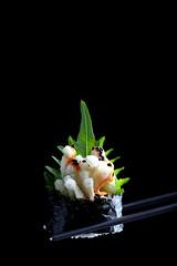IMG_0038 (Olives for Dinner) Tags: sushi mushrooms vegan sushiroll enoki enokimushroom vegansushi