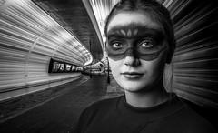 Under Ground (Acero666) Tags: 18 18photographyclub 2016 bw blackandwhite norway art darkart facepaint model urban