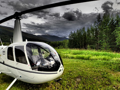 Break Time (Darren Keast) Tags: bc mountains overcast 2016 mountainousterrain nopeople robinson mcbride travel britishcolumbia alberta relaxation flying aviation helicopter tourism robinsonhelicopters robinsonr44 canada ca