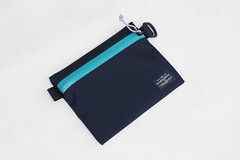 Flat Pouch Aqua 01 (Imagery Bags) Tags: zipper ykk waterresistant flatpouch drypouch