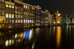 glacy water after a busy day (jimx9999) Tags: amsterdam holland netherlands longexposure langzeitbelichtung nacht night damrak
