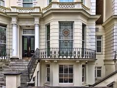 Architectural details galore in Pembridge Square, Notting Hill (juliavhill) Tags: england wroughtiron stainedglass pembridgesquare nottinghill london