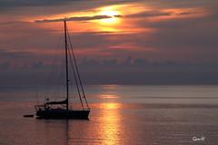 En calma... (lesxanes) Tags: seascape sea mar cielo barco yate nubes asturias espaa 70d