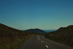 The Road (Aaron Pennett) Tags: northern ireland ni mourne mountains road roadside sky blue hill blacktop white marking