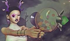 Space's Candy Invasion # 1313 (KoRa 's New Account) Tags: labaguette vallani sanarae fiore milan meshhead swallow gacha new sl secondlife space galaxy