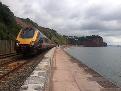 0610 Derby to Plymouth, between Teignmouth and Dawlish (Ulleskelf) Tags: teignmouth devon greatwesternmainline crosscountry bombardiervoyagerfamily