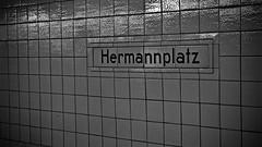 Hermannplatz (J @BRX) Tags: tiles blackandwhite bw noir squares pattern station metro ubahn hermannplatz bahnhof berlin germany deutschland streetphotography july2016 summer