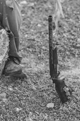 The Guard (SerCorzo) Tags: gun shoe farm person farmer morning black white bw blanco negro protect arma maana luz