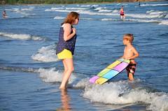 Everett & Mommy In The Water (Joe Shlabotnik) Tags: 2016 beach sue higginsbeach boogieboard maine july2016 everett ocean proudparents afsdxvrzoomnikkor18105mmf3556ged