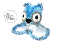 Blue Owl Hat 2016 1 (Anastasia wiley) Tags: blue owl hat beanie cozy cozyhat crochet knit eyes whitebackground light kids halloween costume