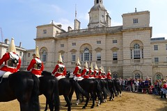 Royal Parks and Palaces with Emma Matthews (12 May 2016) (Context Travel) Tags: london england horseguardsparade royalguard tradition horses riding uniform royal royalty parks palaces explore deeptravel iconic travel historic architecture building outdoor people