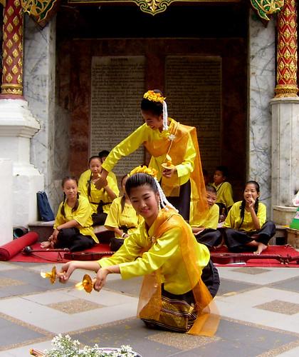 Dancers... Doi Inthanon,  Chiang Mai,  Thailand
