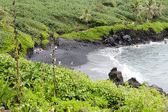 Black Beach (rschnaible) Tags: maui hawaii us usa road hana seascape landscape outdoor sightseeing tour tropics tropical ocean pacific waianapanapa state park
