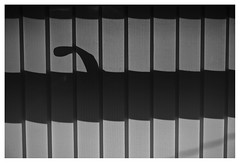 366/227 14Aug16 Blind Shadow (Romeo Mike Charlie) Tags: backlighting shadow blinds window handle silhouette